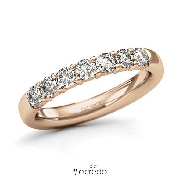 Memoire/Diamantring in Roségold 585 mit zus. 0,7 ct. Brillant tw, si von acredo