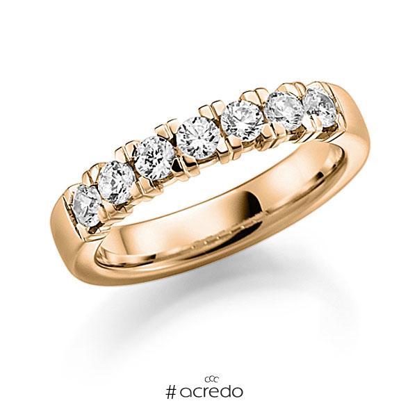 Memoire/Diamantring in Roségold 585 mit zus. 0,7 ct. Brillant tw, vs von acredo