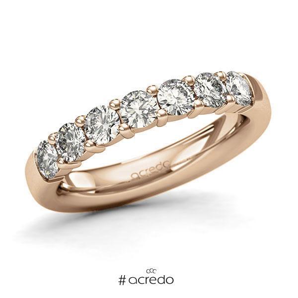 Memoire/Diamantring in Roségold 585 mit zus. 1,05 ct. Brillant tw, si von acredo