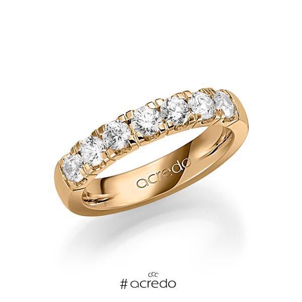 Memoire/Diamantring in Roségold 585 mit zus. 1,05 ct. Brillant tw, vs von acredo