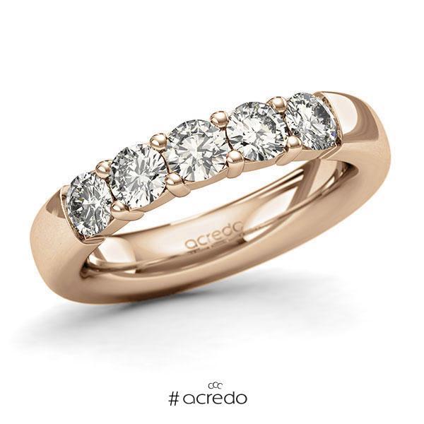 Memoire/Diamantring in Roségold 585 mit zus. 1,25 ct. Brillant tw, si von acredo