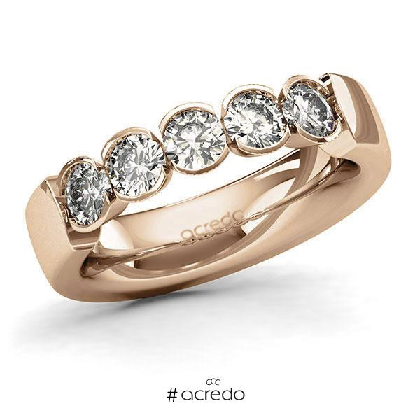 Memoire/Diamantring in Roségold 585 mit zus. 1,25 ct. Brillant tw, si von acredo