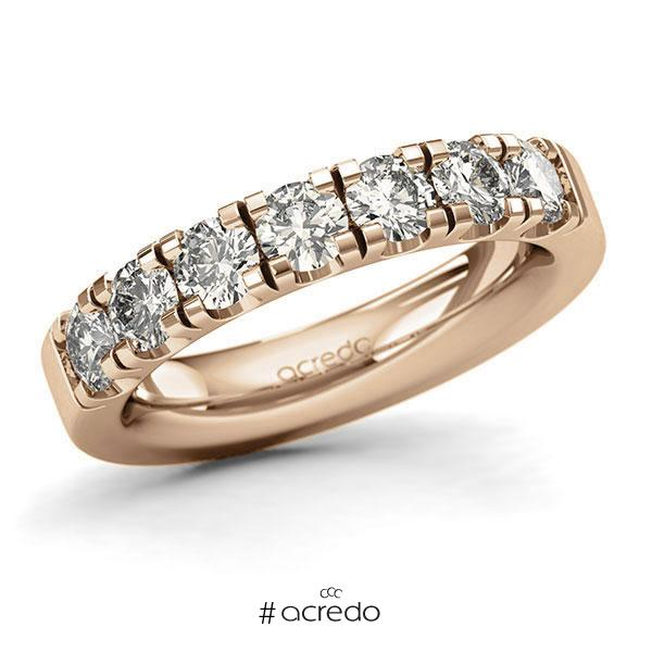 Memoire/Diamantring in Roségold 585 mit zus. 1,4 ct. Brillant tw, si von acredo