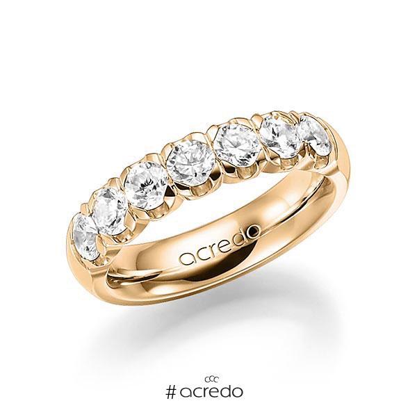 Memoire/Diamantring in Roségold 585 mit zus. 1,4 ct. Brillant tw, vs von acredo