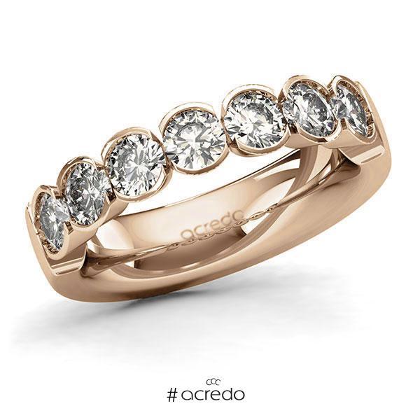 Memoire/Diamantring in Roségold 585 mit zus. 1,75 ct. Brillant tw, si von acredo
