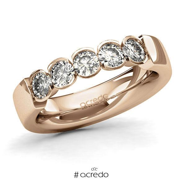 Memoire/Diamantring in Roségold 585 mit zus. 1 ct. Brillant tw, si von acredo