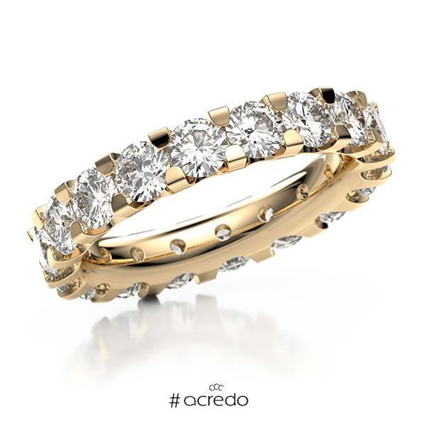 Memoire/Diamantring in Roségold 585 vollausgefasst mit 23x 0,3 ct. Brillant tw, vs von acredo