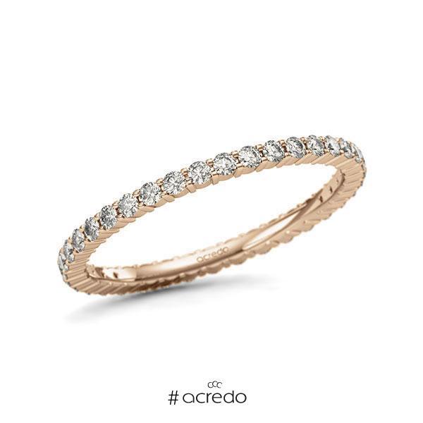 Memoire/Diamantring in Roségold 585 vollausgefasst mit zus. 0,555 ct. Brillant tw, si von acredo