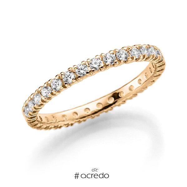 Memoire/Diamantring in Roségold 585 vollausgefasst mit zus. 0,62 ct. Brillant tw, vs von acredo