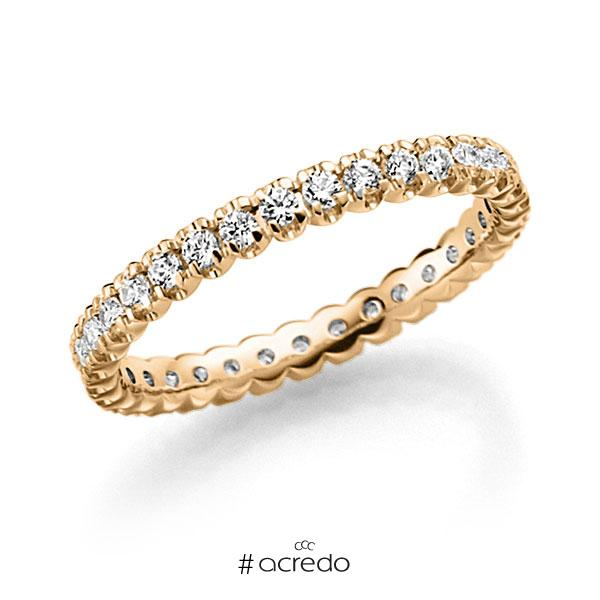 Memoire/Diamantring in Roségold 585 vollausgefasst mit zus. 0,66 ct. Brillant tw, vs von acredo