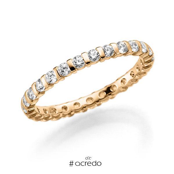 Memoire/Diamantring in Roségold 585 vollausgefasst mit zus. 0,81 ct. Brillant tw, vs von acredo