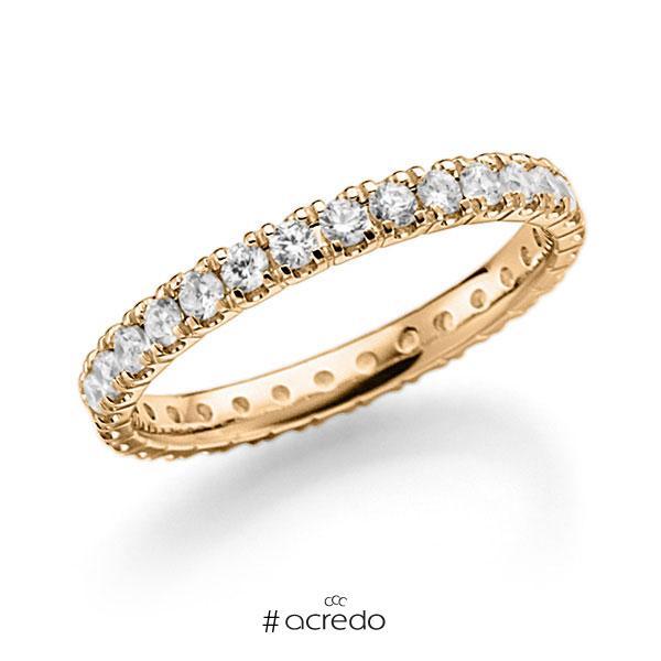 Memoire/Diamantring in Roségold 585 vollausgefasst mit zus. 0,9 ct. Brillant tw, vs von acredo
