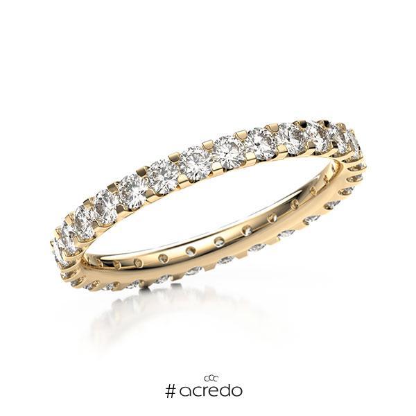Memoire/Diamantring in Roségold 585 vollausgefasst mit zus. 1,12 ct. Brillant tw, vs von acredo