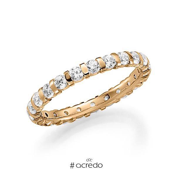 Memoire/Diamantring in Roségold 585 vollausgefasst mit zus. 1,15 ct. Brillant tw, vs von acredo