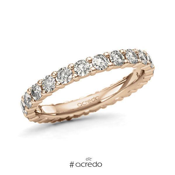 Memoire/Diamantring in Roségold 585 vollausgefasst mit zus. 1,32 ct. Brillant tw, si von acredo
