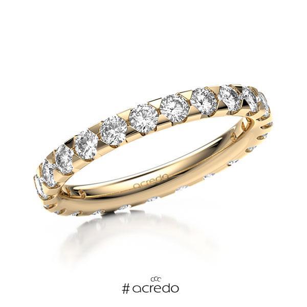 Memoire/Diamantring in Roségold 585 vollausgefasst mit zus. 1,38 ct. Brillant tw, si von acredo