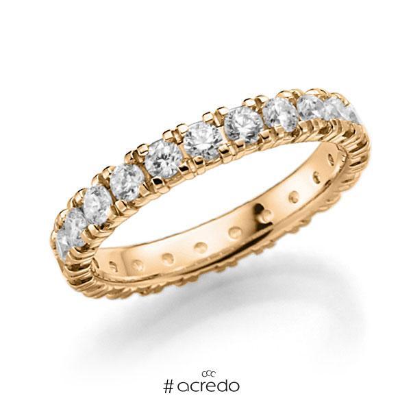 Memoire/Diamantring in Roségold 585 vollausgefasst mit zus. 1,38 ct. Brillant tw, vs von acredo