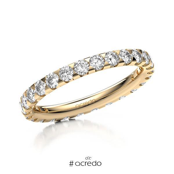 Memoire/Diamantring in Roségold 585 vollausgefasst mit zus. 1,3 ct. Brillant tw, si von acredo