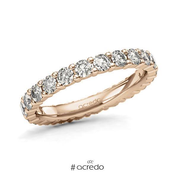 Memoire/Diamantring in Roségold 585 vollausgefasst mit zus. 1,54 ct. Brillant tw, si von acredo