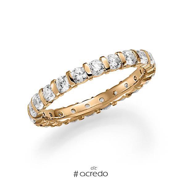 Memoire/Diamantring in Roségold 585 vollausgefasst mit zus. 1,54 ct. Brillant tw, vs von acredo