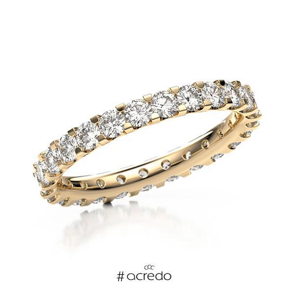 Memoire/Diamantring in Roségold 585 vollausgefasst mit zus. 1,5 ct. Brillant tw, vs von acredo