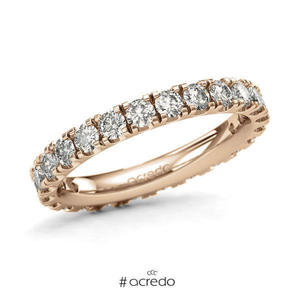 Memoire/Diamantring in Roségold 585 vollausgefasst mit zus. 1,68 ct. Brillant tw, si von acredo
