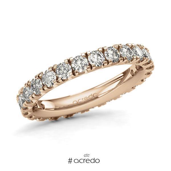 Memoire/Diamantring in Roségold 585 vollausgefasst mit zus. 1,92 ct. Brillant tw, si von acredo
