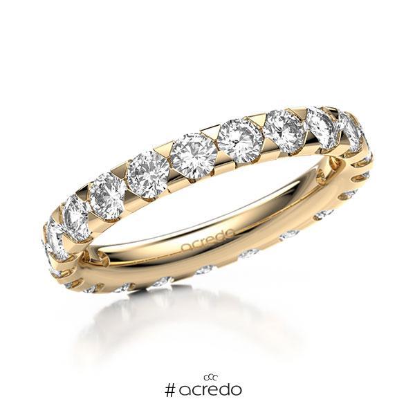 Memoire/Diamantring in Roségold 585 vollausgefasst mit zus. 2,1 ct. Brillant tw, si von acredo