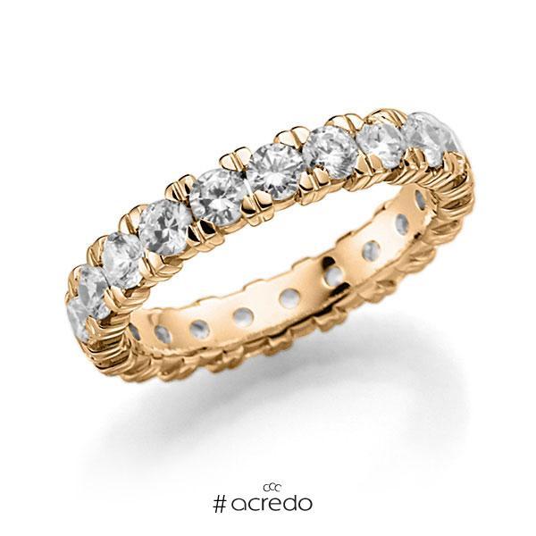 Memoire/Diamantring in Roségold 585 vollausgefasst mit zus. 2,1 ct. Brillant tw, vs von acredo