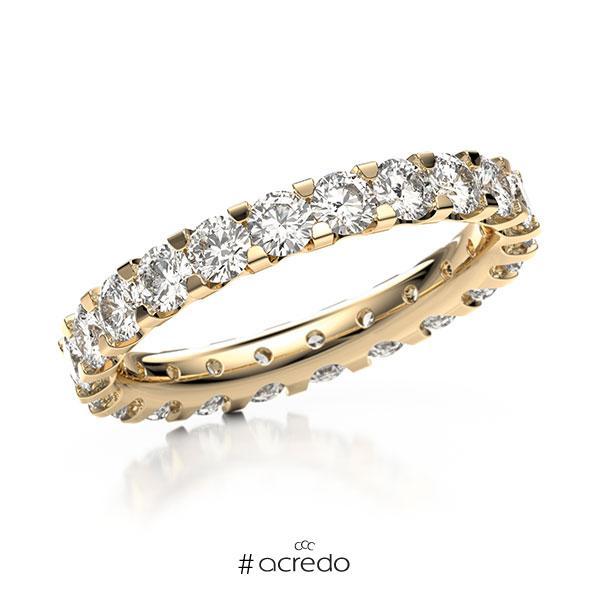 Memoire/Diamantring in Roségold 585 vollausgefasst mit zus. 2,2 ct. Brillant tw, vs von acredo