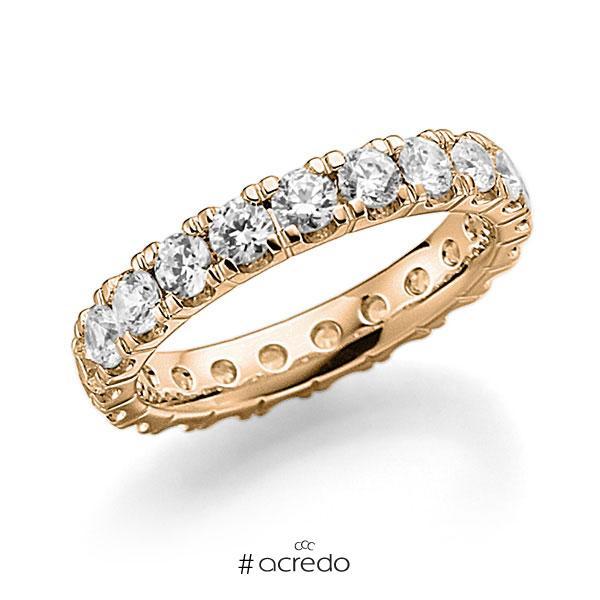 Memoire/Diamantring in Roségold 585 vollausgefasst mit zus. 2,31 ct. Brillant tw, vs von acredo