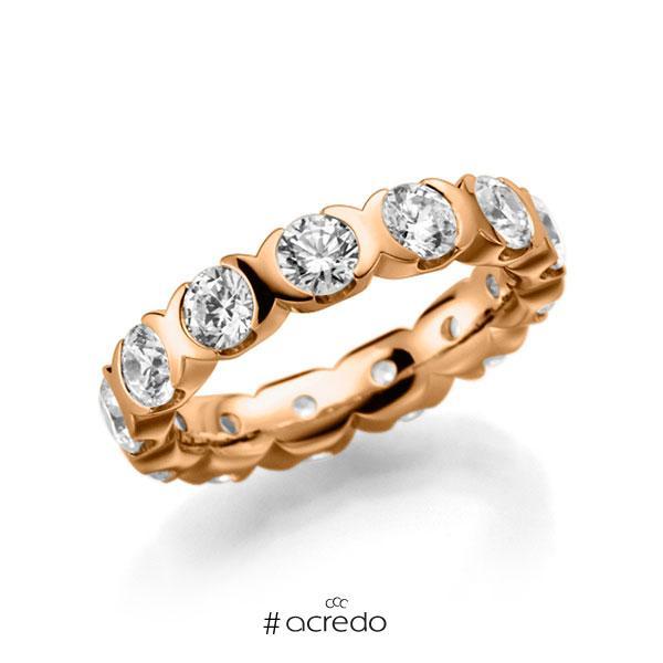 Memoire/Diamantring in Roségold 585 vollausgefasst mit zus. 2,6 ct. Brillant tw, vs von acredo