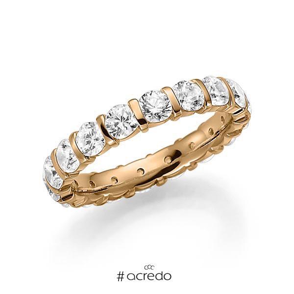 Memoire/Diamantring in Roségold 585 vollausgefasst mit zus. 2,7 ct. Brillant tw, vs von acredo
