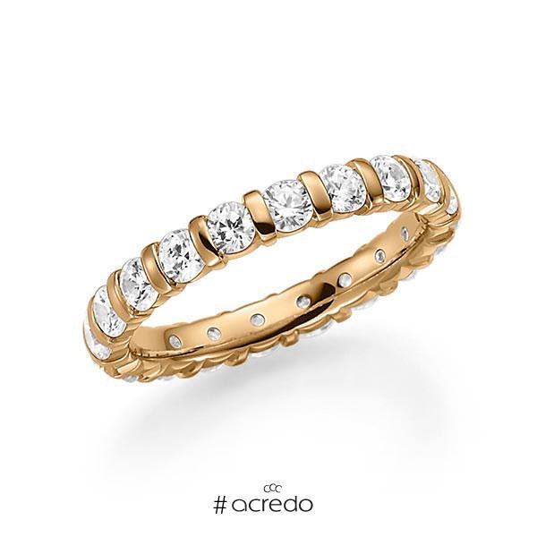 Memoire/Diamantring in Roségold 585 vollausgefasst mit zus. 2 ct. Brillant tw, vs von acredo