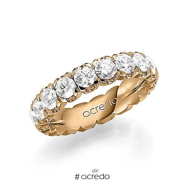 Memoire/Diamantring in Roségold 585 vollausgefasst mit zus. 3,6 ct. Brillant tw, vs von acredo