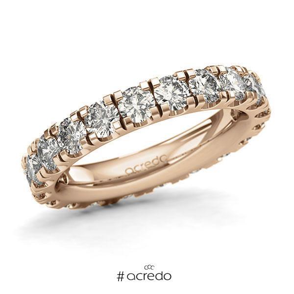 Memoire/Diamantring in Roségold 585 vollausgefasst mit zus. 3 ct. Brillant tw, si von acredo