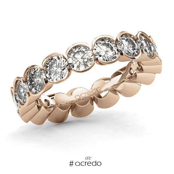 Memoire/Diamantring in Roségold 585 vollausgefasst mit zus. 4,25 ct. Brillant tw, si von acredo