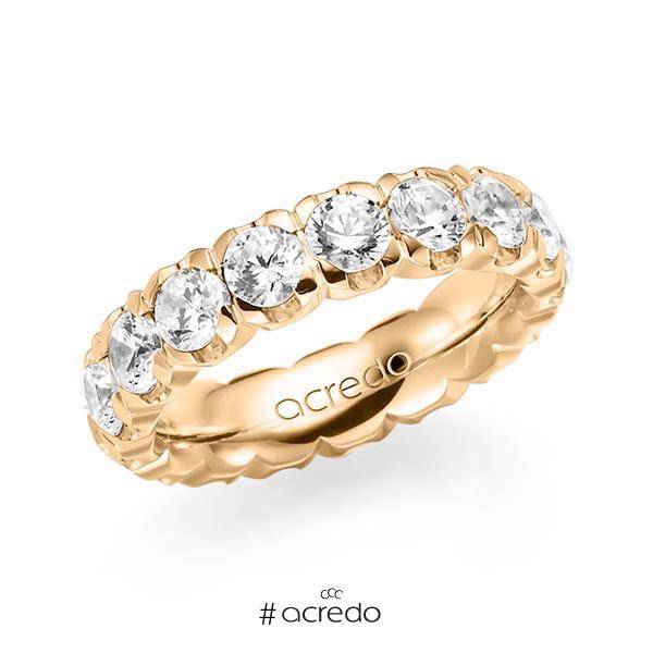 Memoire/Diamantring in Roségold 585 vollausgefasst mit zus. 4,25 ct. Brillant tw, vs von acredo