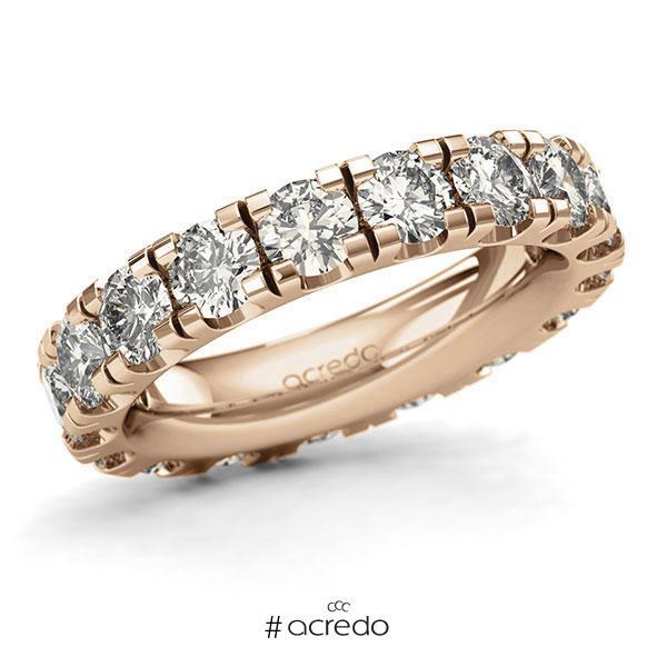 Memoire/Diamantring in Roségold 585 vollausgefasst mit zus. 4,5 ct. Brillant tw, si von acredo
