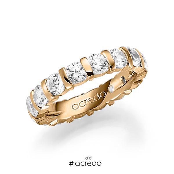 Memoire/Diamantring in Roségold 585 vollausgefasst mit zus. 4 ct. Brillant tw, vs von acredo