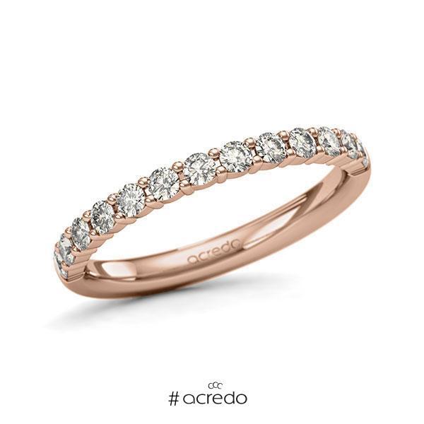 Memoire/Diamantring in Rotgold 585 halbausgefasst mit zus. 0,52 ct. Brillant tw, si von acredo