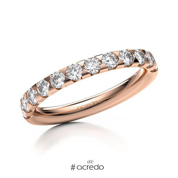 Memoire/Diamantring in Rotgold 585 halbausgefasst mit zus. 0,72 ct. Brillant tw, si von acredo