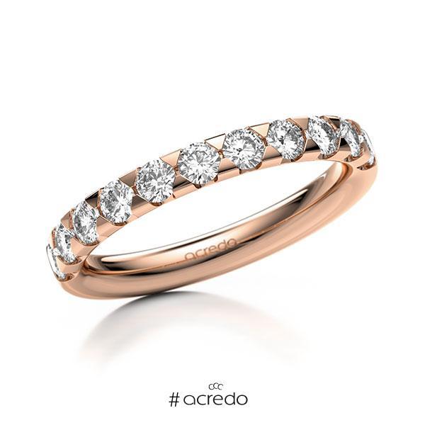 Memoire/Diamantring in Rotgold 585 halbausgefasst mit zus. 0,77 ct. Brillant tw, si von acredo