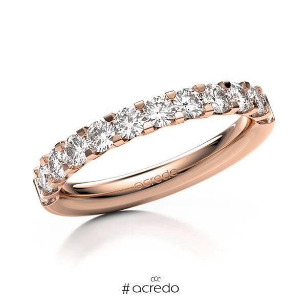Memoire/Diamantring in Rotgold 585 halbausgefasst mit zus. 0,96 ct. Brillant tw, vs von acredo