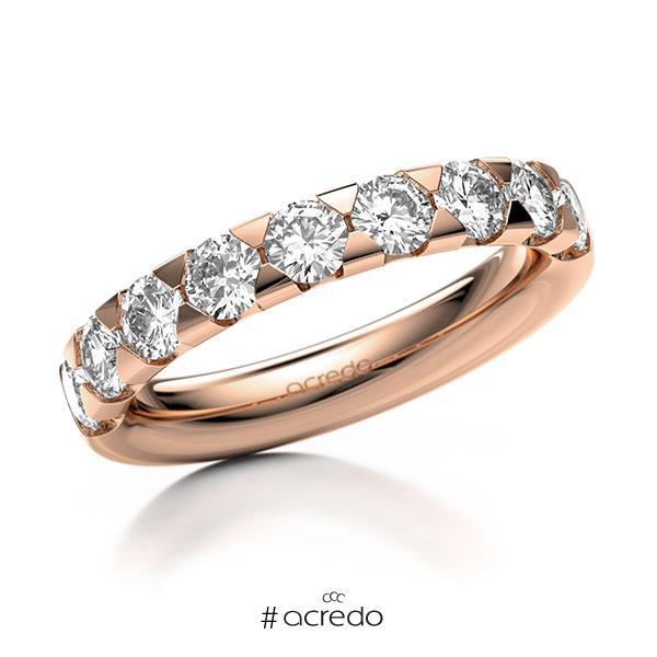 Memoire/Diamantring in Rotgold 585 halbausgefasst mit zus. 1,35 ct. Brillant tw, si von acredo