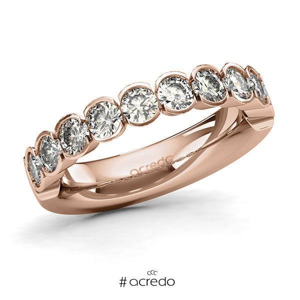 Memoire/Diamantring in Rotgold 585 halbausgefasst mit zus. 1,5 ct. Brillant tw, si von acredo