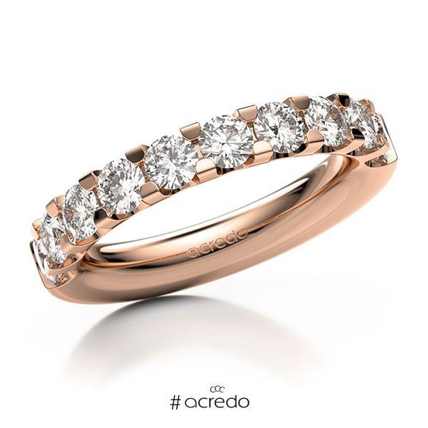 Memoire/Diamantring in Rotgold 585 halbausgefasst mit zus. 1,6 ct. Brillant tw, vs von acredo
