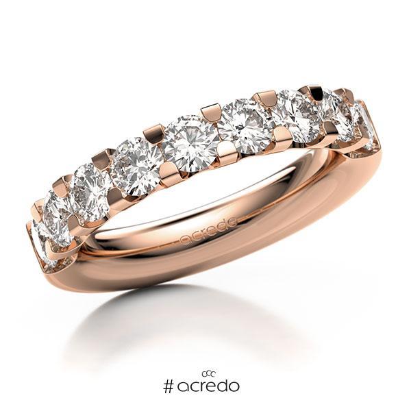 Memoire/Diamantring in Rotgold 585 halbausgefasst mit zus. 1,8 ct. Brillant tw, vs von acredo