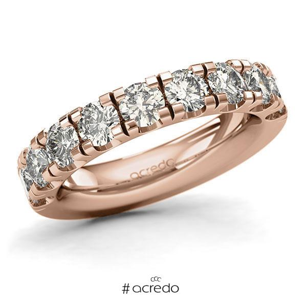 Memoire/Diamantring in Rotgold 585 halbausgefasst mit zus. 2,25 ct. Brillant tw, si von acredo