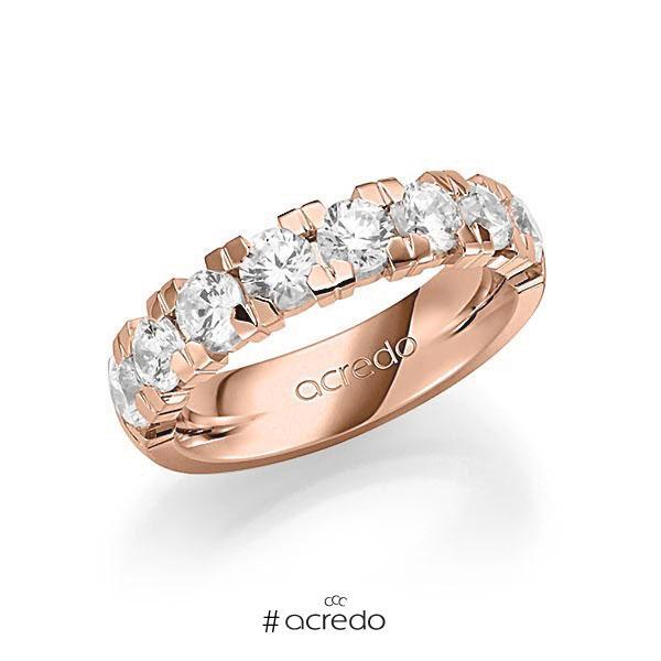 Memoire/Diamantring in Rotgold 585 halbausgefasst mit zus. 2,25 ct. Brillant tw, vs von acredo